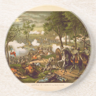 American Civil War Battle of Chancellorsville Sandstone Coaster