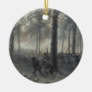 American Civil War Battle of Chickamauga by Waud Ceramic Ornament