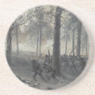 American Civil War Battle of Chickamauga by Waud Coaster