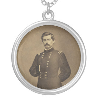 American Civil War General George B McClellan Silver Plated Necklace