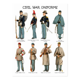 Confederate Soldiers In Uniform Postcards Confederate