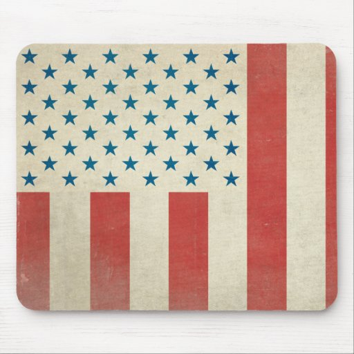 American Civilian Flag Vintage Mouse Pad