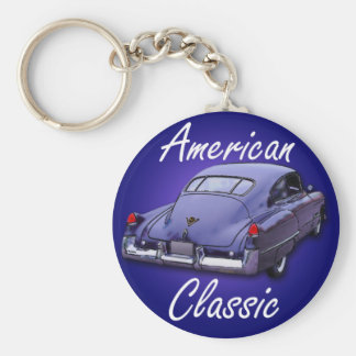 American Classic 1949 Cadillac Basic Round Button Key Ring