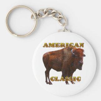 American Classic Buffalo by Fractal Tees(TM) Key Ring