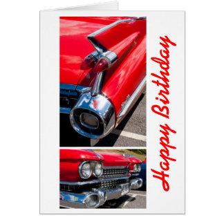 American Classic Car Birthday card