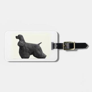 American Cocker Spaniel (Black) Luggage Tag