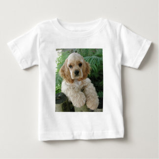 American Cocker Spaniel Dog And The Green Fern Baby T-Shirt