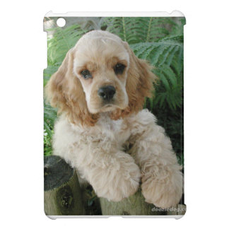 American Cocker Spaniel Dog And The Green Fern Case For The iPad Mini