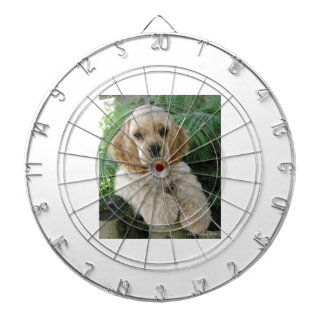 American Cocker Spaniel Dog And The Green Fern Dart Boards