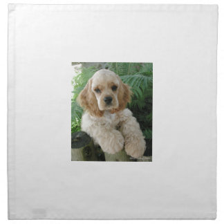 American Cocker Spaniel Dog And The Green Fern Napkin