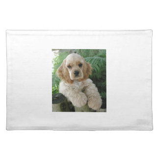 American Cocker Spaniel Dog And The Green Fern Placemat