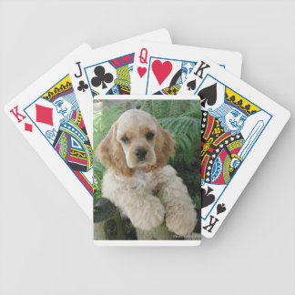 American Cocker Spaniel Dog And The Green Fern Poker Deck