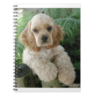 American Cocker Spaniel Dog And The Green Fern Spiral Note Books