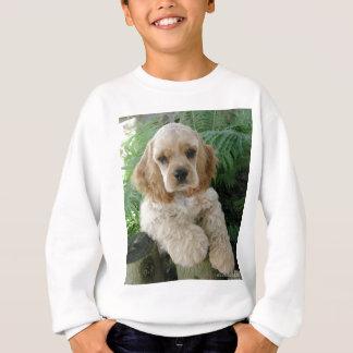 American Cocker Spaniel Dog And The Green Fern Sweatshirt