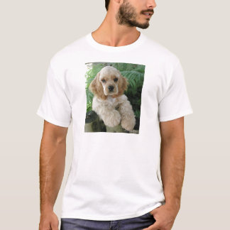 American Cocker Spaniel Dog And The Green Fern T-Shirt