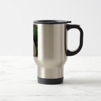 American Cocker Spaniel Dog And The Green Fern Travel Mug