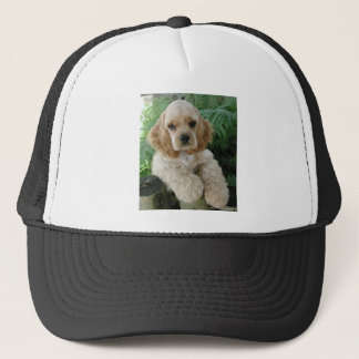 American Cocker Spaniel Dog And The Green Fern Trucker Hat