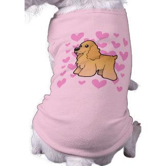 American Cocker Spaniel Love Sleeveless Dog Shirt