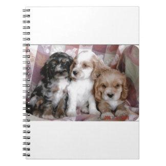 American Cocker Spaniel Puppies Notebook