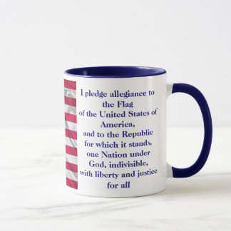 American Coffee Custom Pledge of allegiance Mug B