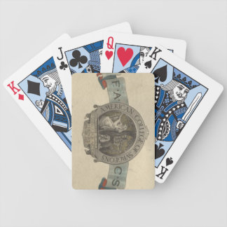 American College of Surgeons Seal Bicycle Playing Cards