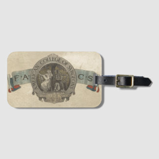 American College of Surgeons Seal Luggage Tag