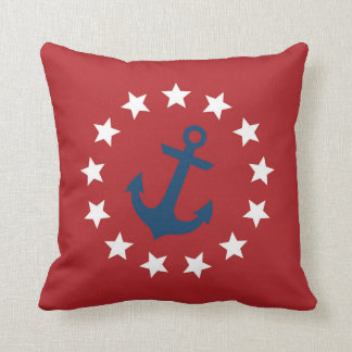 American Colonial Flag Stars and Anchor Cushion