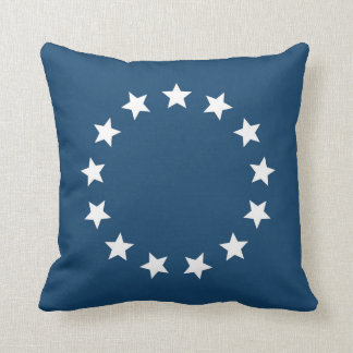 American Colonial Flag Stars Throw Pillow