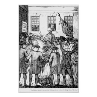 American Colonists Declared Themselves Poster