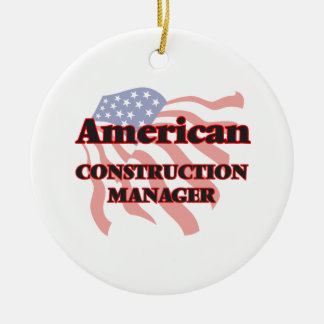 American Construction Manager Ceramic Ornament