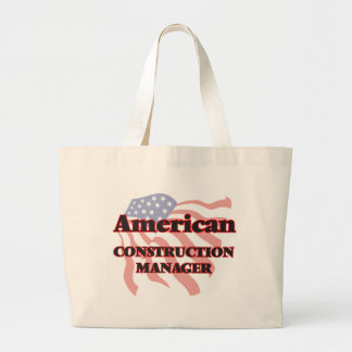 American Construction Manager Jumbo Tote Bag