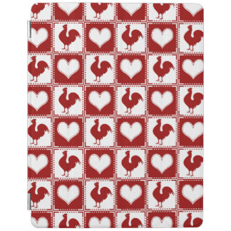 American Country Farm Chicken Gingham iPad Cover