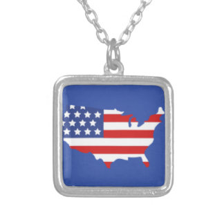 American Country Flag Pendant