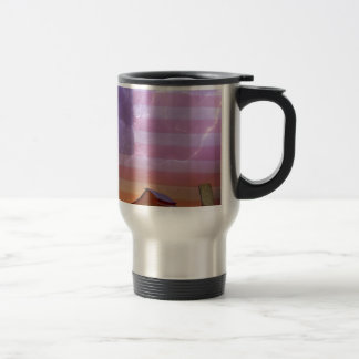 American Country Stormy Night Travel Mug