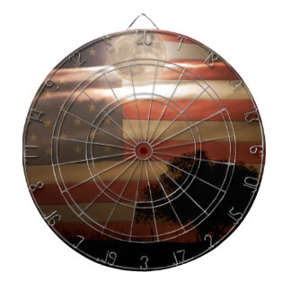 American Country Supermoon Dartboard
