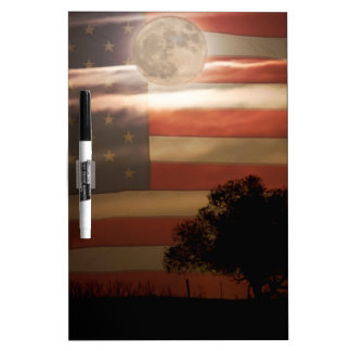 American Country Supermoon Dry Erase Board