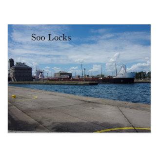American Courage Soo Locks post card