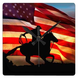 American Cowboy Clock