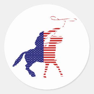 American Cowboy Sticker