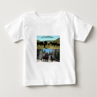 American Cowboys on trip to TAME Mustang Horses Baby T-Shirt
