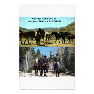 American Cowboys on trip to TAME Mustang Horses Stationery