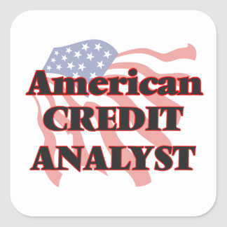 American Credit Analyst Square Sticker