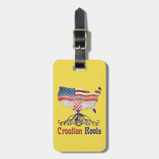 American Croatian Roots Luggage Tag Template