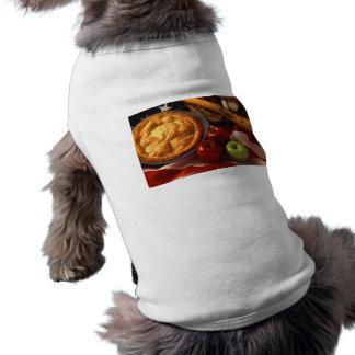 American Cultural Icons Apple Pie Baseball & Flag Pet Tee Shirt