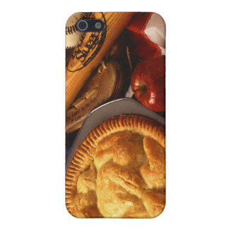 American Cultural Icons Apple Pie Baseball & Flag iPhone 5 Cases
