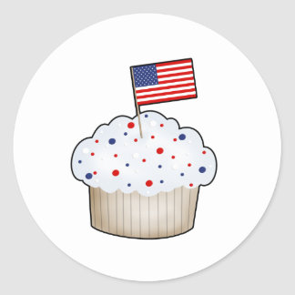 American Cupcake Classic Round Sticker