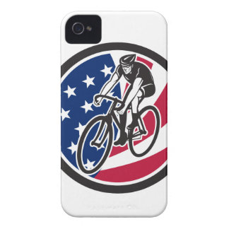 American Cyclist Cycling USA Flag Icon iPhone 4 Cover