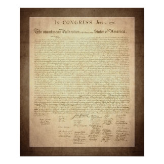 American Declaration of Independence Poster