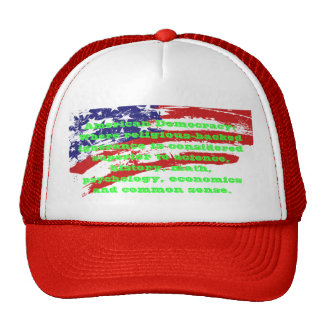 American Democracy sarcastic caps Cap