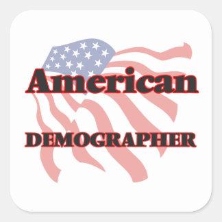 American Demographer Square Sticker